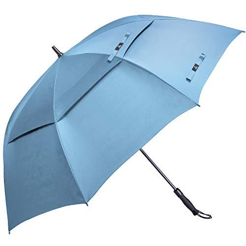 Prospo 68 Inch Automatic Open Golf Umbrella Double Canopy VentedExtra Large Oversize Umbrellas Windproof Waterproof Stick Umbrellas for Men Women(Sky ()