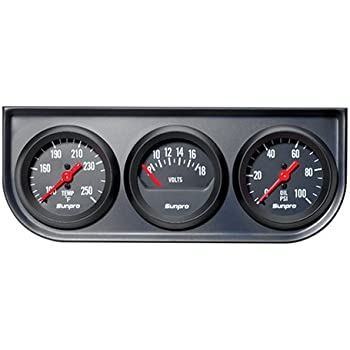 4146BHAPHHL._SL500_AC_SS350_ amazon com sunpro cp8215 styleline voltmeter black dial automotive Sunpro Volt Gauge at mifinder.co