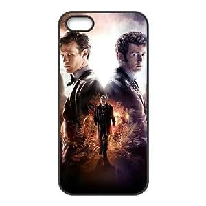 P7N66 doctor Who º Aniversario T6X3BO iPhone 4 4s funda funda caja del teléfono celular cubre DH2EIT8BN negro