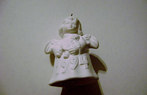 - 1994 Annual Goebel Angel Bell Ornament White 19th Edition