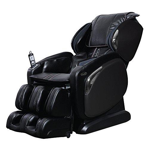 Osaki OS-4000LS Zero Gravity Massage Chair, Foot Rollers, L-Track Design, Space Saving (Black)