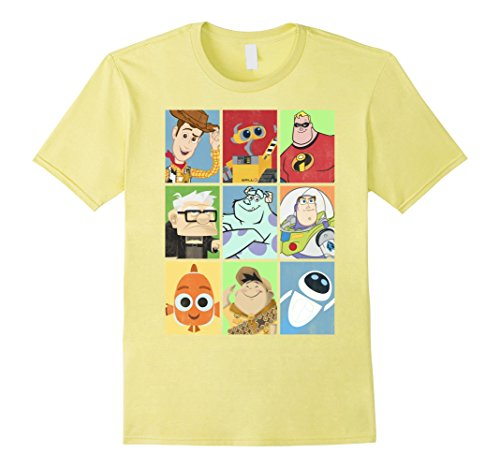 Mens Disney Pixar Epic Boxed Up Line Up Character Graphic T-Shirt 3XL (Disney Characters Male)