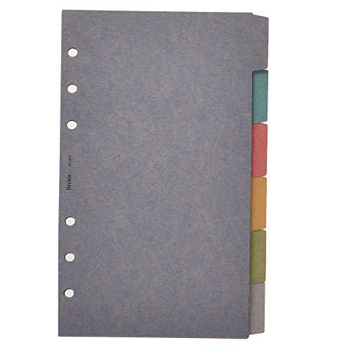 능률 시스템 수첩 리필 색 가로 6 색채 609 / Efficiency System Notebook Refill Color Index Yoko 6 Earth Color 609