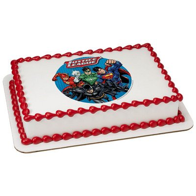 The Justice League Licensed Edible Cake Topper #7439 -