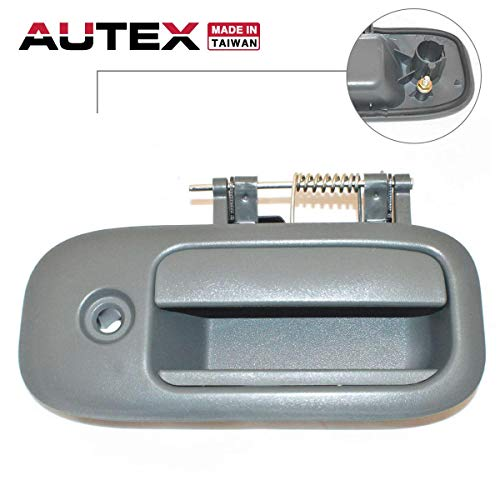 AUTEX Exterior Sliding Door Handle Front/Rear Right Cargo Passenger Side Compatible with Chevrolet Express,GMC Savana 1500 2500 3500 96-09 83373