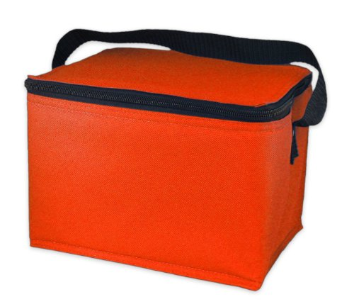 EasyLunchboxes Insulated Lunch Box Cooler Bag, Orange (Orange Lunch)
