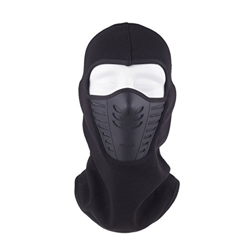 ChikaMika Neoprene Face Mask for Full Face Cover Mask Prefect for Skiing Snowboarding Motorcycling Cold Weather - Black