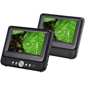 Sylvania 9-Inch Dual Screen Portable DVD Player with USB/SD Card Reader