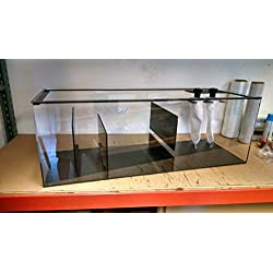 Windridercreations 50 gal Refugium-Sump, Wet/Dry, Aquarium Filter-45x15x15 High-Includes 2 Sock Holders with Socks and bulkheads