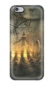 New Premium Flip Case Cover Pumpkin Cult Skin Case For Iphone 6 Plus