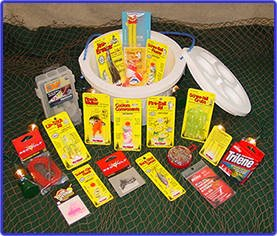 Amazon walleye bucket o tackle fishing gift basket by walleye bucket o tackle fishing gift basket by fishy gifts negle Images
