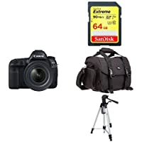 Canon EOS 5D Mark IV Full Frame Digital SLR Camera with EF 24-70mm f/4L IS USM Lens Kit + Accessory Bundle