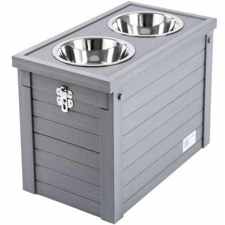 New Age Pet ecoFLEX Piedmont Dog Diner Grey