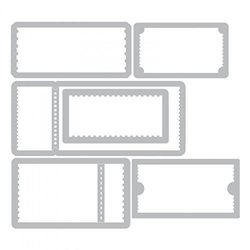 Tim Holtz Ticket Booth - Stampers Anonymous Cling Stamps and Sizzix Framelits Die Set by Tim Holtz (Image #3)