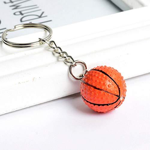4cm Softball Ball Basketball Golf Charm Keychain Pendant TB (Colour - Basketball) ()