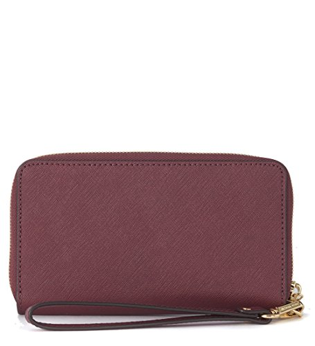 Michael Kors Jet Set Women's Travel Large Coin Wallet (One Size US Women, Plum)