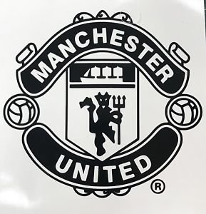 Maple Enterprise Manchester United F.C Logo Black Decal Vinyl Sticker 5