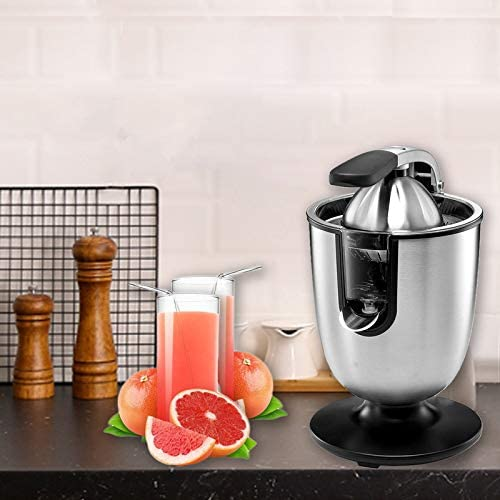 160 Watts, Stainless Steel Electric Citrus Juicer Squeezer for Orange Lemon Grapefruit with Soft Grip Handle /& Cone Lid ,Sold by TTFY