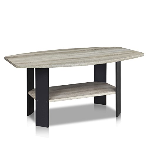 FURINNO 11179GYW/BK Simple Design Coffee Table (Coffee Tables Wooden)