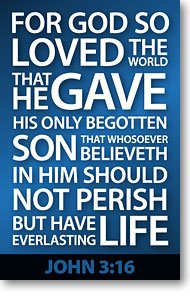 - John 3:16 (Mini Tract) (Packet of 100, KJV)