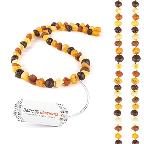 Amber Necklace for Adult Women and MenHandcrafted of First-Rate,Raw Baltic Amber Beads,Natural Immunity Booster, HeadacheMigraine,Joint Arthritis Pain Relief, Size 19-20 inches