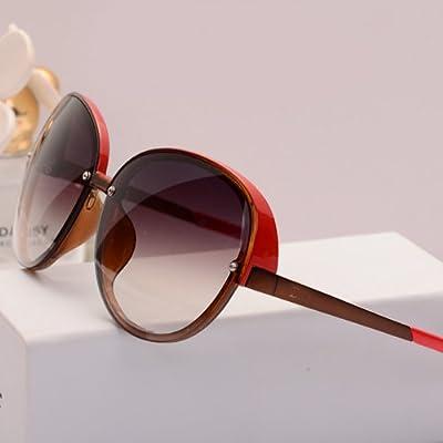 LXKMTYJ Couture rétro personnalisé élégant visage Mode Lunettes optiques Offset Lunettes Violet, Orange