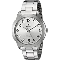 Titan Men's 'Neo' Quartz Metal and Brass Watch, Color:Silver-Toned (Model: 1585SM04)