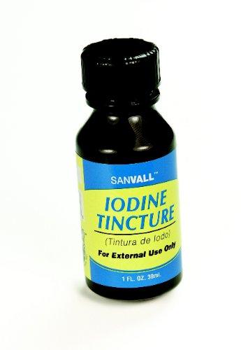 L'iode Sanvall Teinture aide USP Première Antiseptique-2%, par Sanar - 1 Oz