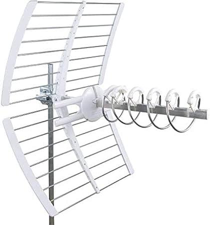 Antena fracarro helicoidal Elika canales E21-E60 banda UHF ganancia 17DB LTE pasiva 213226