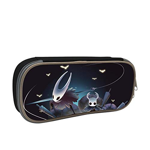 Yellow Hollow Butterfly Knight Pencil Case Large Pen Bag Capacity Stationery Zipper for Students