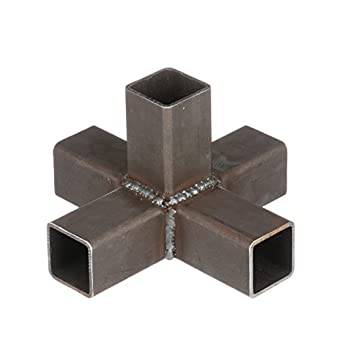 "Marlin Steel Sheet Metal Five Connector, Plain Steel (8.17""L x  1.84"""