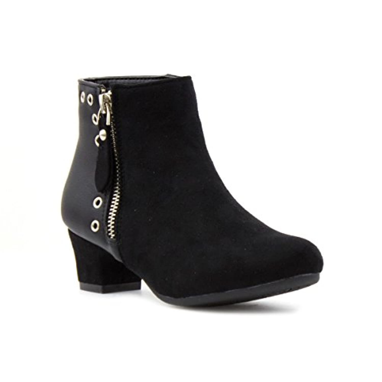 Lilley Girls Heeled Ankle Boot in Black - Size 1 - Black