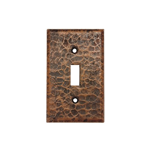 Premier Copper Products ST1_PKG2 Copper Switchplate Single Toggle Switch Cover - Quantity 2, Oil Rubbed Bronze