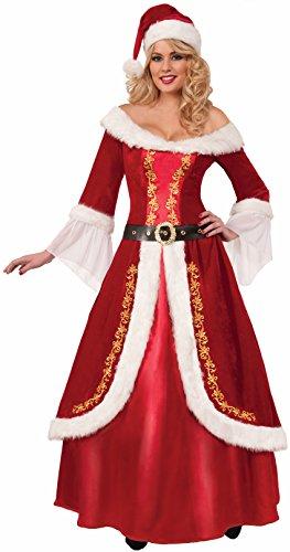 Forum Novelties Women's Premium Classic Mrs. Claus Costume, Multi, One Size -