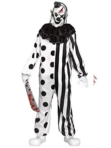 Fun World Men's Killer Clown, Multi, Teen Up to 5' 7