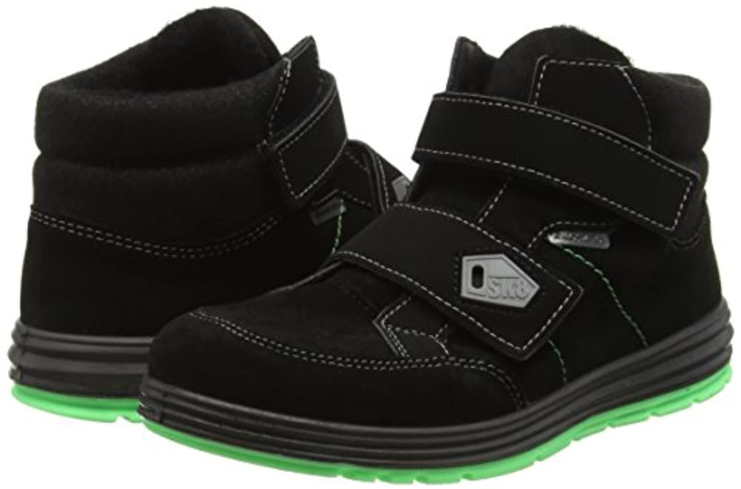 Ricosta Beyo, Boys' Hi-Top Sneakers, Black (SCHWARZ 097), 1 UK (33 EU)