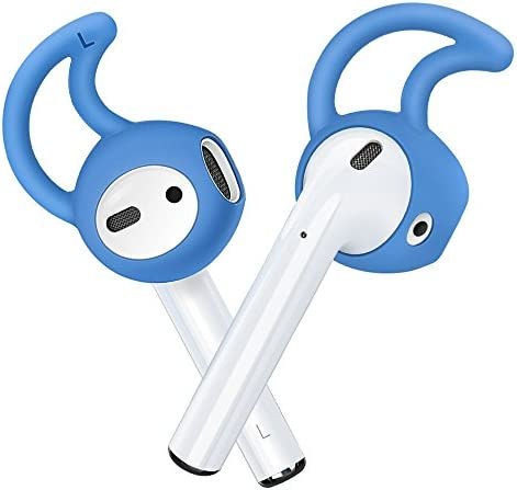 ZALU Hooks and Covers Accessories Compatible with AirPods and EarPods Earphone Earbuds 3 Pairs Blue