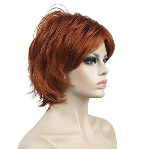 Lydell Short Layered Shaggy Wavy Full Synthetic Wigs 130A Fox Red