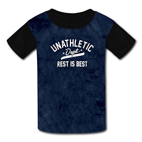 O-Neck Polyester Fiber Soft Short Sleeve Top Tshirts For Unisex Kid,Print Unathletic Xl