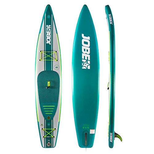 - Jobe Neva Inflatable Stand Up Paddle Board 12'6 x 30 INC Paddle, Backpack, Pump & Leash