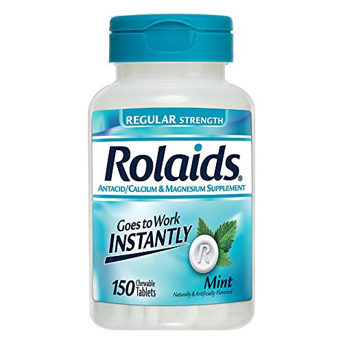 Rolaids Antacid, Regular Strength Tablets, Mint, 150 Count