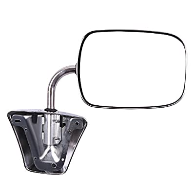 ROADFAR Side View Mirrors Fit Compatible with 1973-91 Chevy/Chevrolet GMC Jimmy Suburban C10 20 30/C/K1500 2500 3500/C15 25 35 Left and Right Side Manual Folding Non-Heated Chrome GM1321227: Automotive