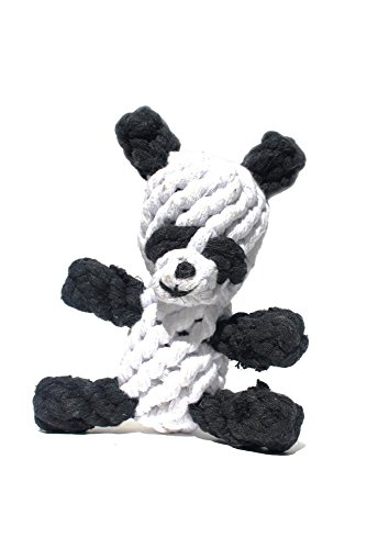 Panda Dog Toys, Cotton Dental Teaser Rope Chew Teeth Cleaning Toy for small and medium dogs