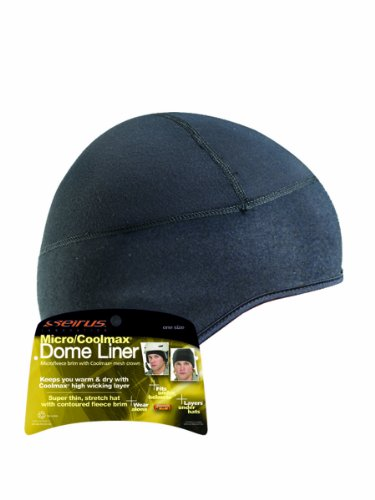 Seirus Innovation Unisex Micro Dome Head Hat Liner - Comfortable Stretchy - TOP - Nylon Dome Helmet
