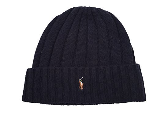 isex Lambswool Skullie Cap Dark Blue Beanie Hat Wool/Nylon OS ()