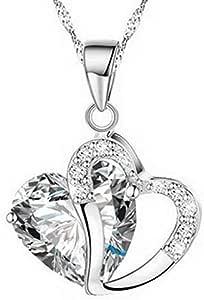 Heart Zircon Crystal Necklace