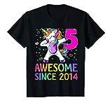 Kids 5 Years Old 5th Birthday Unicorn Shirt Girl Daughter Gift Pa