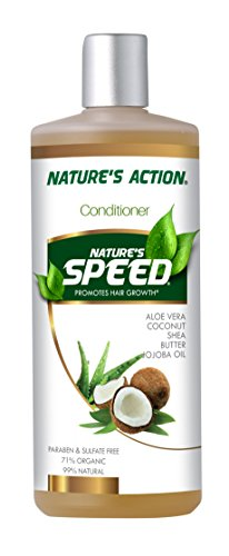 Nature's Action - Nature's Speed Organic All Natural Conditioner Helps Grow Hair Fast, Long, and Strong