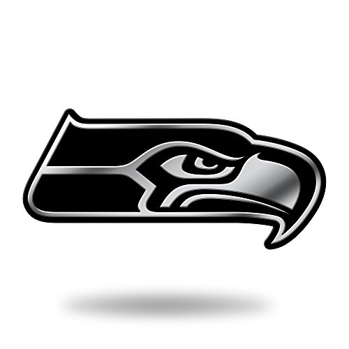 Rico Industries NFL Seattle Seahawks Chrome Finished Auto Emblem 3D Sticker