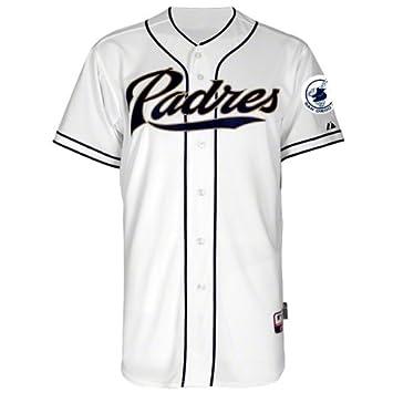 competitive price b8328 6ddea Amazon.com : Majestic San Diego Padres Home White Authentic ...